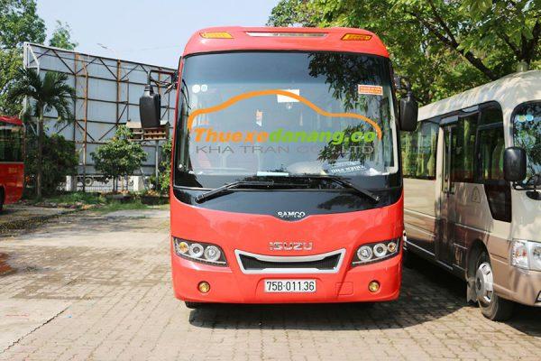 Dịch vụ thuê xe Đà Nẵng đi Quảng Ngãi 35 chỗ isuzu samco